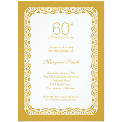 60th Birthday Party Invitation Templates Ideas